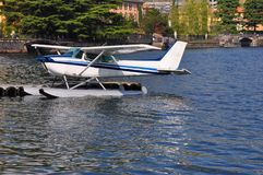 water plane Villa  lake Como italy Royalty Free Stock Image