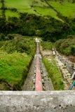 Water plant power dam energy. Old Water power plant, dam electric energy generator, Ecuador stock photo