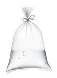 Water in plastic bag Royalty Free Stock Images