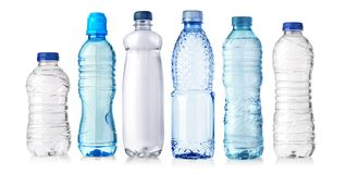 Water plastic bottle. Set of water plastic bottle  on white background Royalty Free Stock Images
