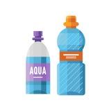 Water plastic sport bottle transparent mineral beverage blank refreshment nature clean liquid and element aqua fluid Stock Photography