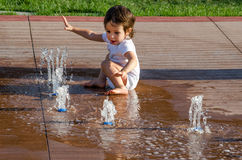 Water play Stock Images