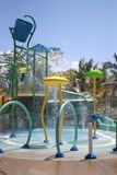 Water Play Ground in Harvest Caye stock images