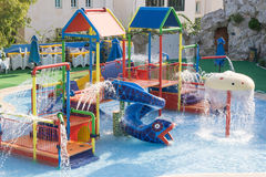 Water playground royalty free stock photography