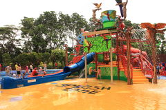 Water playground Stock Photo
