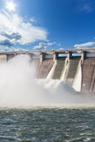 Hydroelectric Power Station. Water plums on hydroelectric power station Royalty Free Stock Images