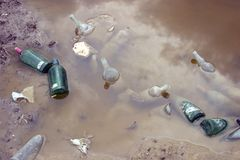 Water pollution royalty free stock photography