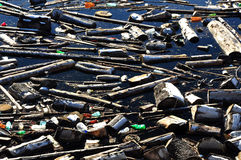 Water Pollution In A Lake With Garbage Royalty Free Stock Images