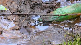 Water pollution. natural disaster. nature in danger. polluted water background. stock footage