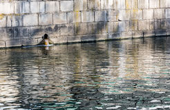 Water pollution in river Stock Photography