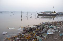 Water Pollution in rivers stock photography