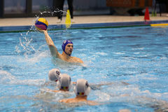Water polo action - passing the ball Royalty Free Stock Photo