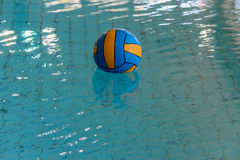 Water polo ball in a swimming pool Royalty Free Stock Photo