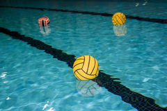 Water polo balls Royalty Free Stock Images