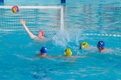 Water polo competition Royalty Free Stock Photos