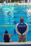 Water polo de las mujeres - Italia Foto de archivo libre de regalías