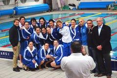 Water polo de las mujeres - Italia Foto de archivo