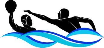 Water polo del logotipo stock de ilustración