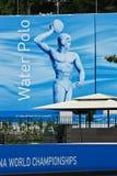 Water polo en el campeonato del mundo de FINA Fotografía de archivo libre de regalías