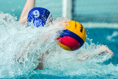 water polo game competitors during ukrainian open championship Royalty Free Stock Photography