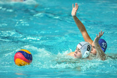 water polo game competitors during ukrainian open championship Royalty Free Stock Image