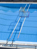 Water polo goal at the outdoor swimming pool Stock Photo