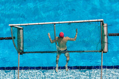 Water-Polo Goalie Pool Royalty Free Stock Image