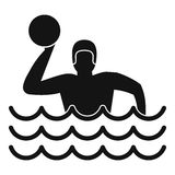 Water polo icon, simple style Stock Images