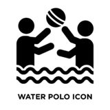 Water Polo icon vector isolated on white background, logo concept of Water Polo sign on transparent background, black filled vector illustration