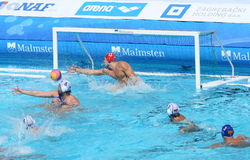 Water Polo / Innefective Goalkeeper Royalty Free Stock Photos