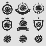 Water polo labels and icons set. Vector Stock Photos