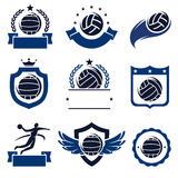 Water polo labels and icons set. Vector Royalty Free Stock Image
