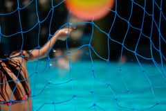 Water polo net Stock Photo