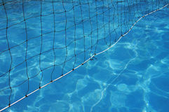 Water Polo net in swimming pool Royalty Free Stock Image