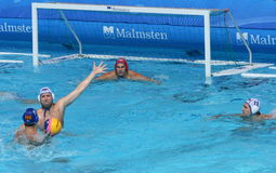 Water Polo / One On One Defense Stock Photography