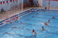 Water polo penalty shot Stock Photo