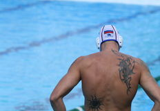 Water Polo Player / Big Tattoo Royalty Free Stock Images
