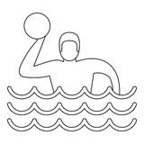 Water polo player icon, simple style Stock Photos