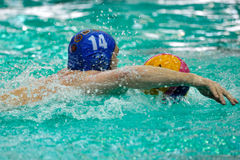 Water polo player in the Romanian polo championship Stock Image