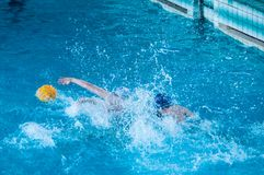 Water polo player. Water polo is a team water sport Stock Photo