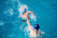 Water polo player. Water polo is a team water sport Royalty Free Stock Image