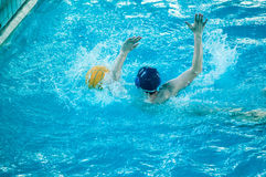 Water polo player. Water polo is a team water sport Royalty Free Stock Photography