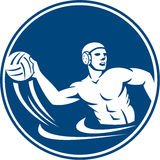 Water Polo Player Throw Ball Circle Icon Royalty Free Stock Photo