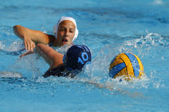 Water polo players Stock Photo
