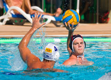 Water polo players in action Royalty Free Stock Images