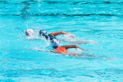 Water polo players in competition Stock Photos