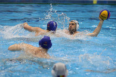Water polo players Stock Photos