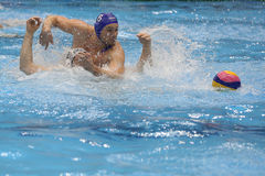 Water polo players fighting for the ball Stock Image