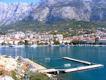 Water polo playground in Makarska Stock Photography