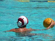 Water Polo series. A water polo game with players, teams, and balls Stock Photography